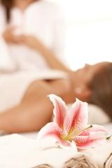 Conceptual image of massage salon