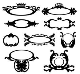 diadème symbole noir, insigne et blason
