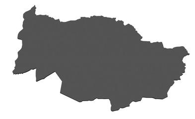 Karte des Kantons Zug - freigestellt