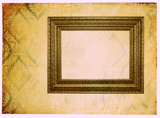 vintage wallpaper background with photoframe