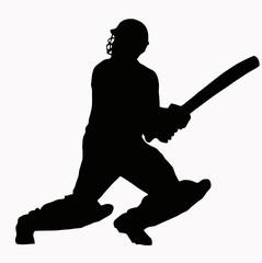Sport Silhouette - Cricket Batsman