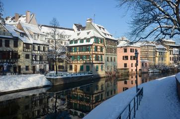La neige à Strasbourg