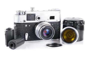 Old 35 mm rangefinder camera