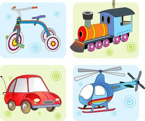 Vector illustration transport