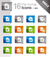 Angle Stickers - File format icons 01