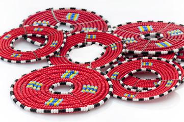 Masai beaded mats from East Africa.