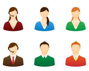 Set icons people vector for design.