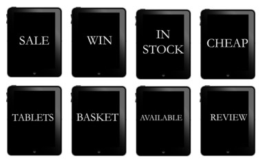 Tablet pc web buttons
