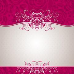 pink valentine background, vector