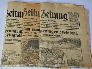In de dag Kranten zeitung