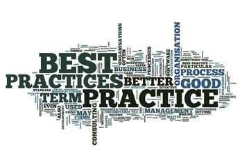 """Word Cloud """"Best Practices"""""""