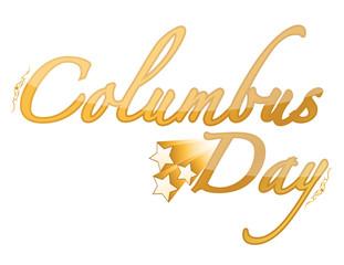Golden Columbus Day sign