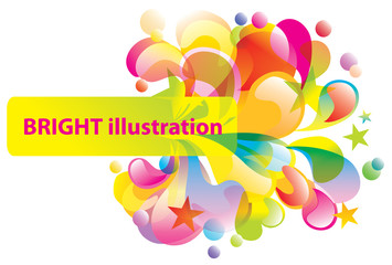 Abstract bright vector background with splash