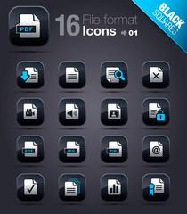 Black Squares - File format icons 01