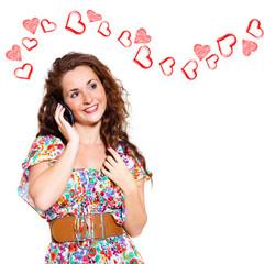 verliebtes Telefonat