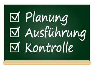 Planung, Ausführung, Kontrolle