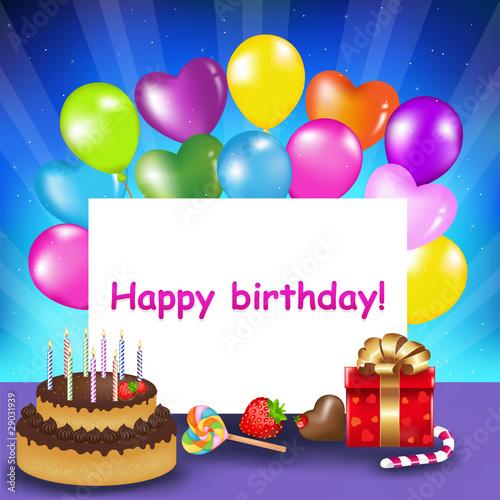 Happy Birthday Card Stockfotos Und Lizenzfreie Vektoren Auf Fotolia