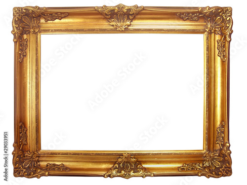 cadre en bois dor ancien photo libre de droits sur la banque d 39 images image. Black Bedroom Furniture Sets. Home Design Ideas