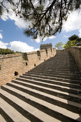 Steps Restored Mutianyu Section Great Wall, Beijing, China