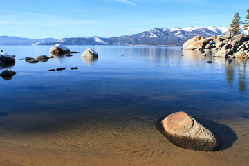 Wall Mural - calm waters of lake tahoe