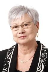 Closeup portrait of senior lady