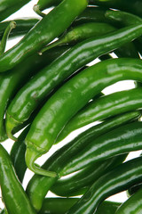 herbs : photo of a bunch of hot green chili peppers