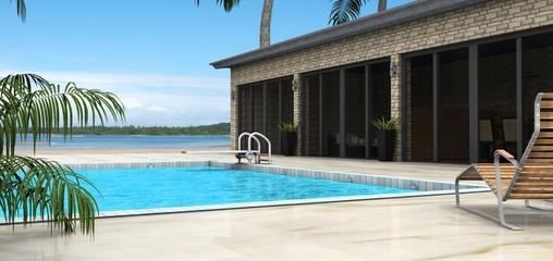 3d villa mit pool