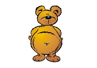 Dicker Bär schaut dich an