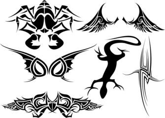 vector tatoo set