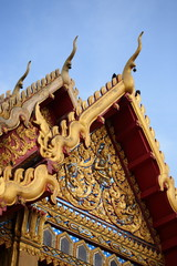 The art of Buddhist temples in Thailand.