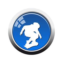 Botón glossy skate