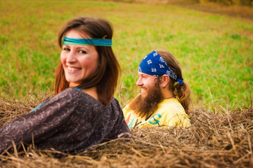 a pair of hippies