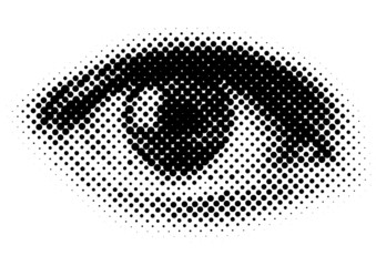vector dots eye Wall mural
