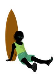 Beach BoySilhouette Illustration