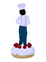 Boy Chef Silhouette Illustration