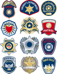 police vector badges