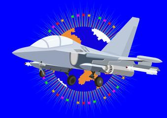 Fotorolgordijn Militair Modern fighter