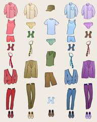 Men clothes icons