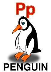 """Letter """"P"""" penguin"""