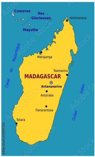 Carte De Madagascar A Imprimer.Carte De Madagascar Fichier Vectoriel Libre De Droits Sur