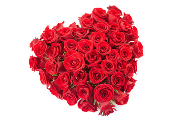 Rose heart isolated with clipping path
