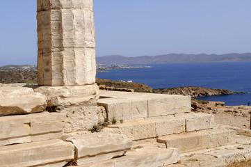 Grèce Cap sounion colonne