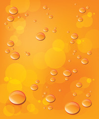 Vector orange background with bubble