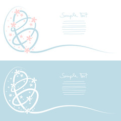 Easter Cards Egg Background Light Blue