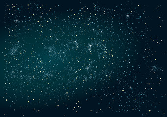 Abstract Night sky background with stars