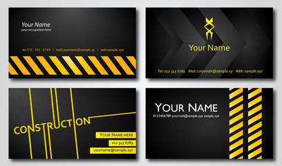 Construction Business Cards Set