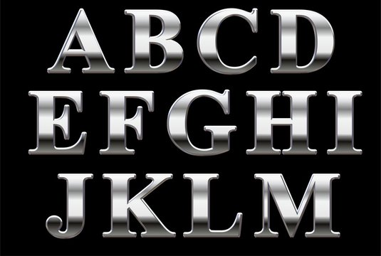 Chrome Style Times New Roman Capital Letters