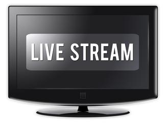 "Flatscreen TV ""Live Stream"""