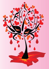 Abstract tree is the symbol of unrequited love