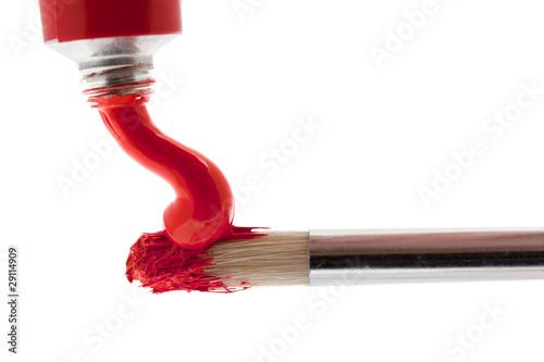 pinsel mit roter farbe stockfotos und lizenzfreie bilder auf bild 29114909. Black Bedroom Furniture Sets. Home Design Ideas